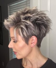 Short Spiky Hairstyles, Short Pixie Haircuts, Short Hairstyles For Women, Sassy Haircuts, Edgy Short Hair, Pixie Haircut For Thick Hair, Short Hair With Layers, Thin Hair Styles For Women, Short Hair Older Women