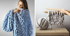 Extremely Chunky Knits By Anna Mo Look Like They're Knit By Giants | Bored Panda