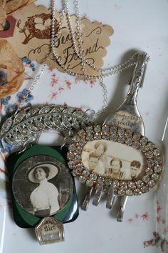 wearable art pendants by Dara DiMagno...