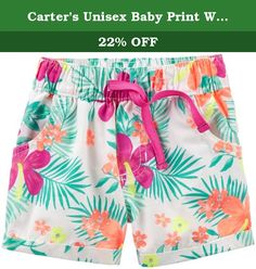 Carter's Unisex Baby Print Woven Shorts (Baby) - Floral - 24M. Carters Print Woven Shorts (Baby) - Floral Carter's is the leading brand of children's clothing gifts and accessories in America selling more than 10 products for every child born in the U.S. Their designs are based on a heritage of quality and innovation that has earned them the trust of generations of families.