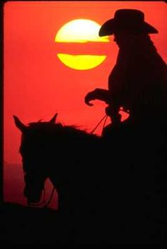 Cowboy from sunrise to sunset..