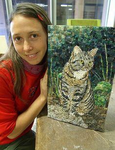 Mosaic Black Cat on Flickr – artsyphartsy Mosaic Cat on Flickr – natashathummel cat's fancy mosaic on Flickr – Deb D Mosaic Cat Art Car San Jose Museurm of Art – Dawn …