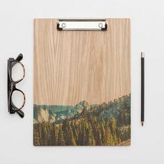 Yosemite Half Dome Wood Clipboard Natural by LemoneeOnTheHills