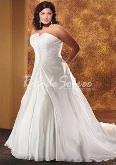 Robe de Mariée 2013-A-ligne bretelles à volants Robe de mariée Taille Plus