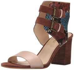 Nine West Women's Galiceno Synthetic Heeled Sandal, Cognac Multi, 8 M US - Women's Top Shoes All Fashion, Gladiator Sandals, Heeled Sandals, Discount Shoes, Comfortable Shoes, Nine West, Block Heels, Casual Shoes, Boots