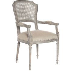 Aidan Gray Furniture Chelsea Dining Arm Chair (67.480 RUB) ❤ liked on Polyvore featuring home, furniture, chairs, dining chairs, nail head chair, nailhead dining chair, aidan gray furniture, nailhead accent chair and nailhead furniture