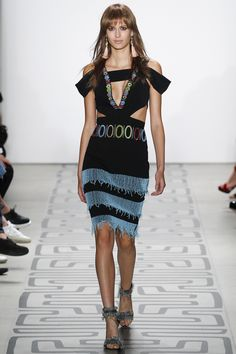 Nicole Miller Spring 2017 Ready-to-Wear Fashion Show, love the tassel earrings