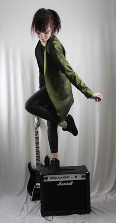 Jacket green with print. Let It Be, Green, Jackets, Green Jacket, Clothing, Creative, Woman, Down Jackets, Jacket
