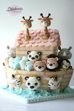 Noah Ark cake  Super cute!