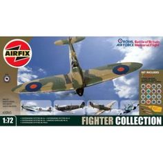 Fighter Collection - 1:72 - Airfix Airfix Models, Hawker Hurricane, Supermarine Spitfire, Battle Of Britain, Collection