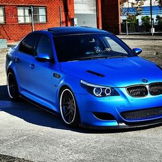 Damnnnn....Republic Wraps Matte Blue BMW M5