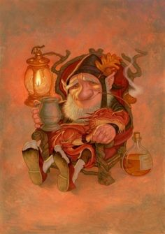 Paul Kidby's Gallery - Artwork : Gnome Comforts