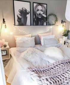 Sensational Bedroom Ideas, From romantic to relaxing bedroom design tactic and examples. Itching for additonal eye popping bedroom decor information simply jump to the image to read the post example 9490400722 this instant Diy Home Decor Bedroom, Bedroom Apartment, Bedroom Ideas, Cozy Bedroom, Bedroom Designs, Nordic Bedroom, Bedroom Furniture, Bedroom Bed, Lilac Bedroom
