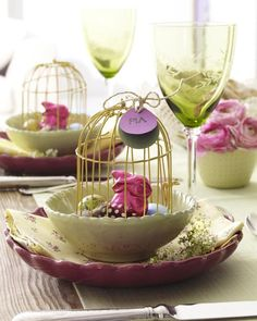 Tischdeko zu Ostern