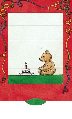 Lebende Karte Geburtstagsbär