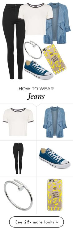 """""""Untitled#1466"""" by mihai-theodora on Polyvore featuring Topshop, Evans, Converse, Cartier and Casetify"""