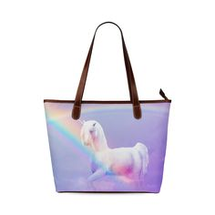Unicorn and Rainbow Shoulder Tote Bag. FREE Shipping. FREE Returns. #bags #unicorn