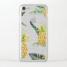 Pineapple Clear iPhone Case by irislynn Pineapple, Smartphone, Iphone Cases, Pinecone, I Phone Cases, Iphone Case