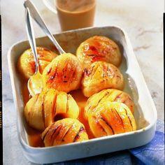 maçãs de caramelo quente-frio
