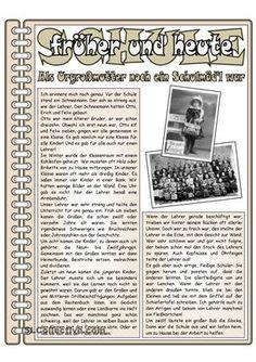 Arbeitsblatt- Lesetext zum Thema Schulalltag vor 100 JahrenLandeskundliche AspekteBlick in die VergangenheitViel Freude damit!Ich hoffe, es gefällt euch ; ) - DaF Arbeitsblätter