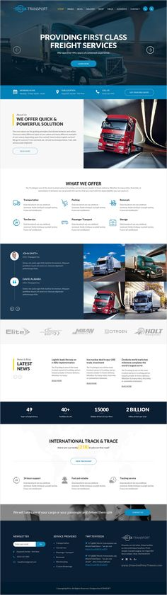 Website Template Template 58066  Transportation Company Responsive Website