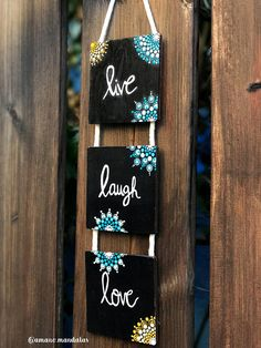 Stampin' Up UK Demonstrator Monica Gale, helps you unleash your creative side. Join me for inspiring projects and request a FREE catalogue Mandala Quotes, Dot Art Painting, Live Laugh Love, Love Home, Rock Art, Rustic Wood, Ladder Decor, Entrance, Witch