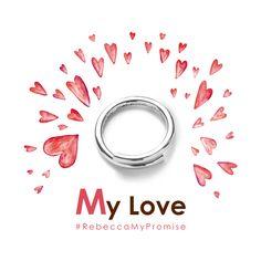 Rebecca Gioielli // My Love // New Collection // San Valentino 2017 #RebeccaMyPromise // @Fabio Schiano #rebeccagioielli #rebeccajewels