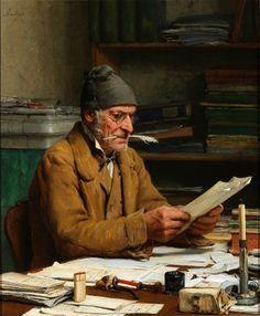 "Albert Anker, ""Der Gemeindeschreiber"", 1874"