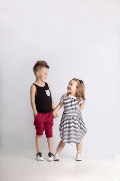 Sukienka AM100 paski-kids - Ynlow-Designed - Sukienki dla dziewczynek Etsy