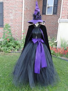 black and purple witch costume