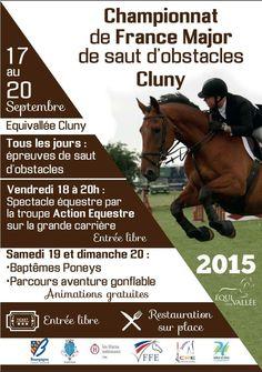 Championnats de France major de CSO du 17 au 20 septembre à Equivallée Cluny.