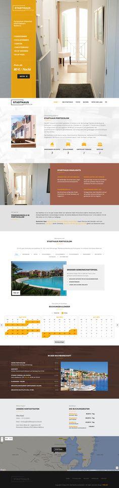 #landingpage #onepager #grafikdesign #screendesign Ferienhaus mit Buchungskalender. Designed by www.pixelgif.de