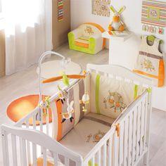 chambre bébé blanc orange vert | deco chambre bébé | Pinterest ...
