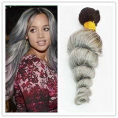 8a Virgin Brazilian Hair Loose Wave Silver Grey Remy Hair Extensions Ombre Grey Loose Wave Human Hair Extensions 300g/Bundle Curly Hair Weaves Curly Weave From Noblevirginhair, $0.81| Dhgate.Com