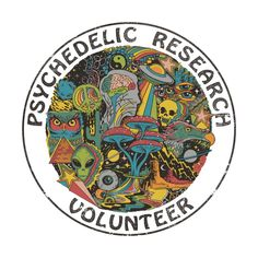 Psychedelic Research Volunteer Accessories Sticker by Steven Rhodes