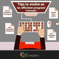 #TheGongzuoTip Four key areas that a program manager should focus on to become more #efficient.