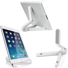 Tablet Holder For Ipad Air Tablet Pc Portable Foldable Desktop Compact – Wallmart Ipad 4, Ipad Mini, Tablet Holder, Tablet Stand, Mobiles, Plastique Recyclable, Support Smartphone, Gear Best, Accessoires Iphone