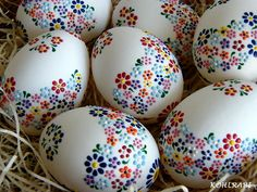 Easter eggs - flowers painted