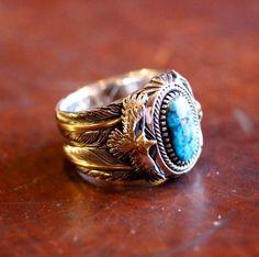 Twin Eagle Ring #HorizonBlue #イーグルリング