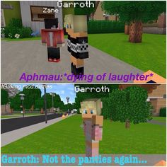 When I saw this I laughed so hard.😂 Demon Videos, Aarmau Fanart, Aphmau Characters, Aphmau Memes, Aphmau And Aaron, Jaiden Animations, Cute Potato, Seven Deadly Sins Anime, Minecraft Fan Art