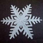 Templates for 10 paper snowflakes