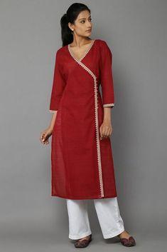 Plain Kurti Designs, Simple Kurta Designs, New Kurti Designs, Salwar Designs, Kurta Designs Women, Kurti Designs Party Wear, Sleeves Designs For Dresses, Dress Neck Designs, Stylish Dress Designs