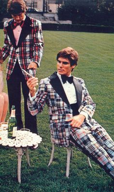 Even if you ignore the madras tux and just focus on the plaid dinner jacket - this is still just wrong.