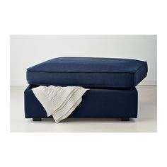 KIVIK Footstool with storage IKEA Large practical storage space under the seat. Works as an extra seat or a comfortable extension of your so...