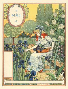Eugène Grasset : Mai (May) at Davidson Galleries
