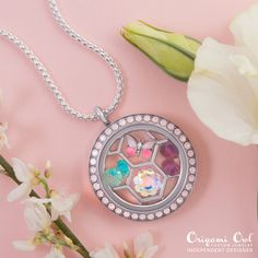 Look at this fabulous new Charm Catcher plate for large lockets! Available next week as part of the Spring Launch of new products. #origamiowl #loveO2 #CharmCatcher #butterfly