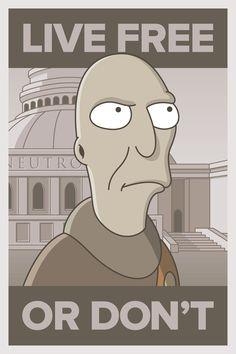 La Revolución de Futurama por el diseñador gráfico Barry Doyon.