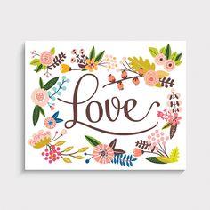 Floral Love Art Prin
