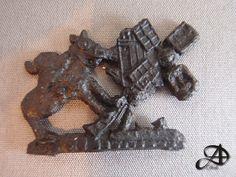 Tinnen Profaan insigne, 1375-1425, draak en molen. HP deel 2, afb. 1698