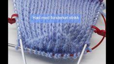 Hælkappe og hælfelling med forsterket strikk Crochet Hats, Blog, Youtube, Knitting Hats, Blogging, Youtubers, Youtube Movies